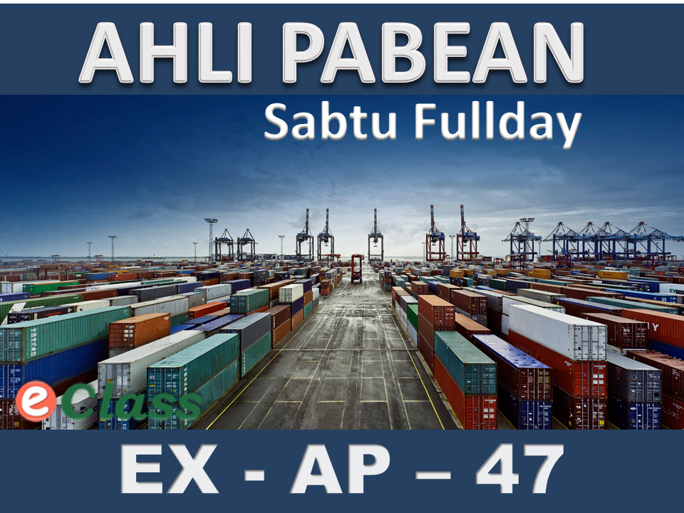 PABEAN SABTU FULL DAY (ECLASS)